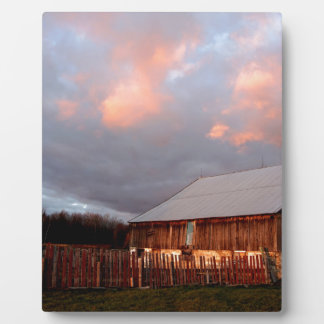 Sunset on the old barn plaque