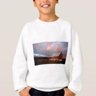 Sunset on the old barn sweatshirt
