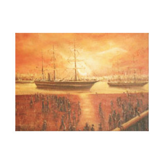 Sunset on the Past Canvas Print