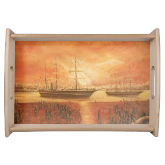 Sunset on the Past Serving Tray