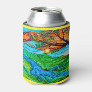 Sunset on the Pedernales Can Cooler