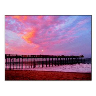 Sunset on the Pier Postcard