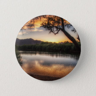Sunset on the River 2 Inch Round Button