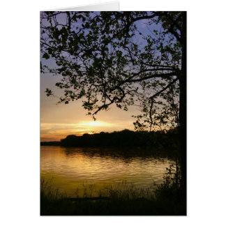 Sunset on the River Blank Greeting Card