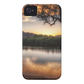 Sunset on the River iPhone 4 Cover