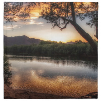 Sunset on the River Napkin