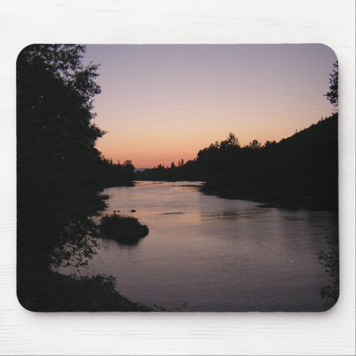 Sunset on the Rogue River, Grants Pass, OR Mousepad