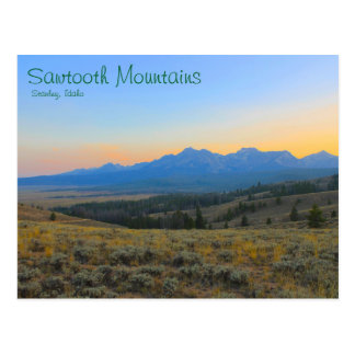 Sunset on the Sawtooths Postcard