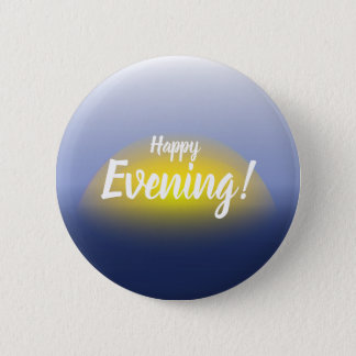 Sunset on the water print with blues & yellow. 2 inch round button