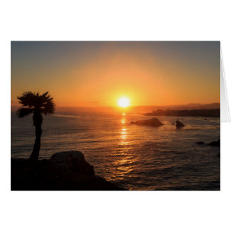 Sunset on the West Coast Card