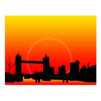 Sunset on Tower Bridge Postcard