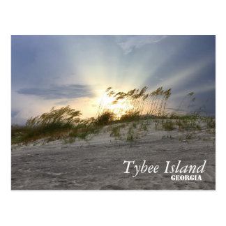 Sunset on Tybee Island, Georgia Postcard
