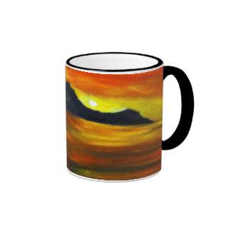 Sunset on Waikiki Beach Coffee Mug