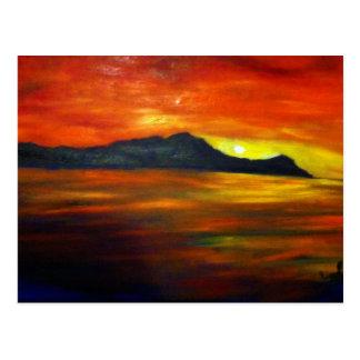Sunset on Waikiki Beach Postcard