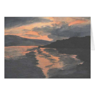 Sunset on Water Card