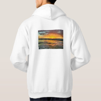 Sunset on water hoodie