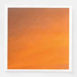 Sunset Orange Abstract Art Paper Dinner Napkins Paper Napkins