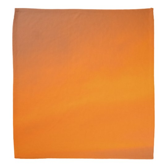 Sunset Orange Bandana Scarf