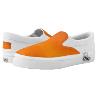 Sunset Orange Zipz Slip On Sneakers Shoes