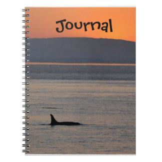 Sunset Orca Journal Notebooks