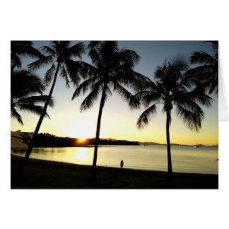Sunset over Airlie Beach, QLD, Australia Card