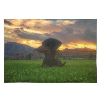 Sunset over Boulder Colorado Placemat