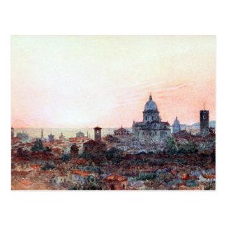 Sunset Over Brescia, Italy Postcard