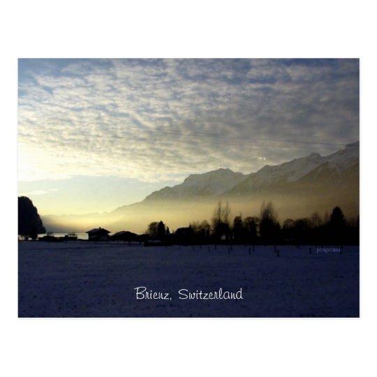 sunset over Brienz' lake Postcard