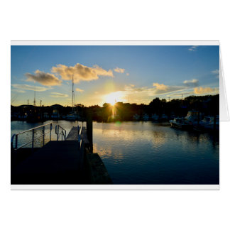 Sunset over Cape Cod Card