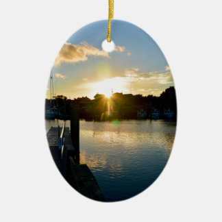 Sunset over Cape Cod Ceramic Ornament