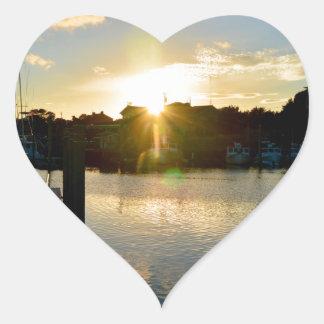 Sunset over Cape Cod Heart Sticker