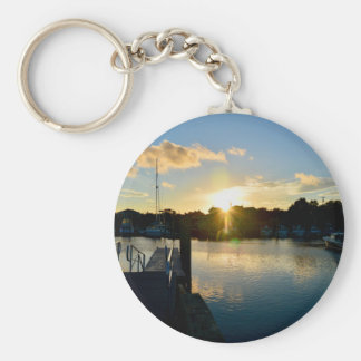 Sunset over Cape Cod Keychain
