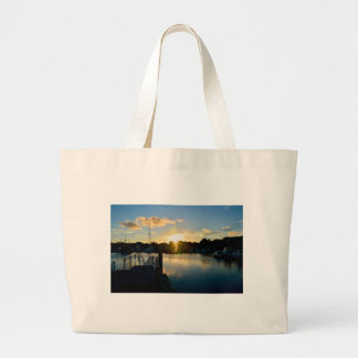 Sunset over Cape Cod Large Tote Bag
