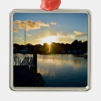 Sunset over Cape Cod Metal Ornament