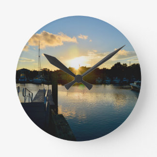 Sunset over Cape Cod Round Clock