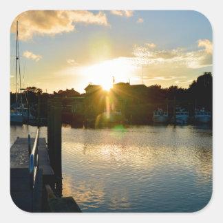 Sunset over Cape Cod Square Sticker