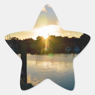 Sunset over Cape Cod Star Sticker