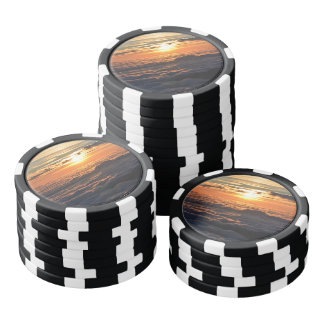 Sunset Over Clouds Poker Chips