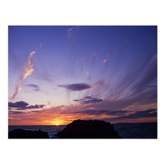Sunset over Cornwall's Atlantic Ocean Postcard