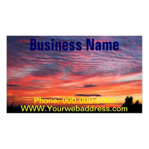 Sunset over Eagle Lake Acadia National Park Business Card