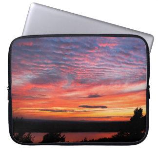 Sunset over Eagle Lake Acadia National Park Laptop Sleeve