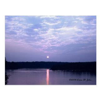 Sunset Over Falls Lake Postcard