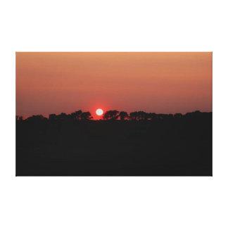 sunset over Farmland in Dowagiac Michigan Canvas Print