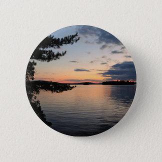Sunset Over Fire Island Millinocket Lake Maine 2 Inch Round Button