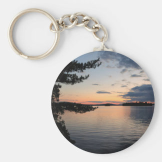 Sunset Over Fire Island Millinocket Lake Maine Keychain