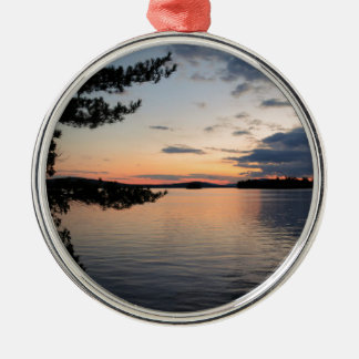 Sunset Over Fire Island Millinocket Lake Maine Metal Ornament