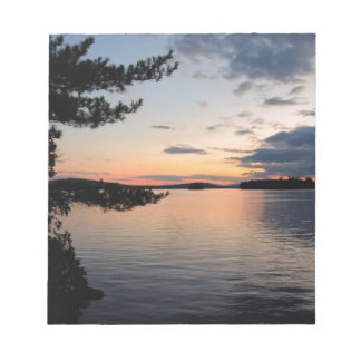 Sunset Over Fire Island Millinocket Lake Maine Notepad