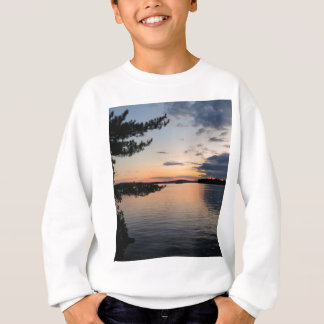 Sunset Over Fire Island Millinocket Lake Maine Sweatshirt