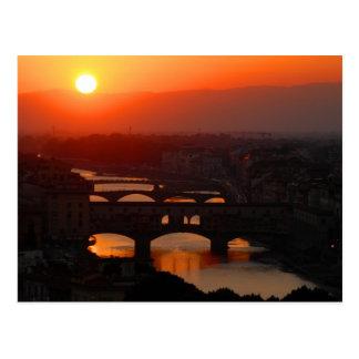 Sunset over Florence Postcard