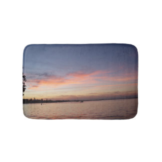 Sunset over Florida Bay, Key Largo FL Bath Mat